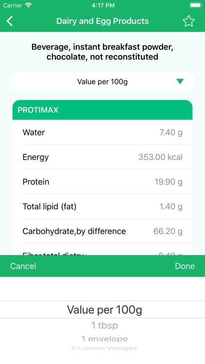 Nutrition Data - Food Calorie screenshot-4