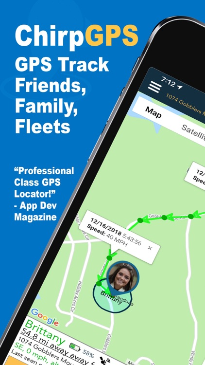 Chirp: Find Family & Friends screenshot-0