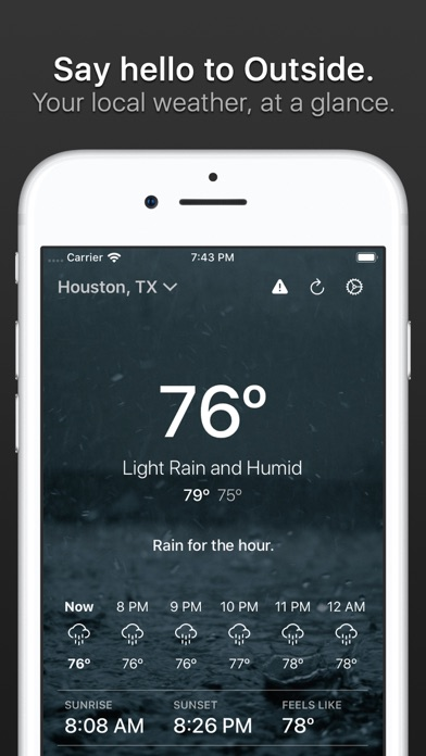 Outside - weather at a glance Screenshots
