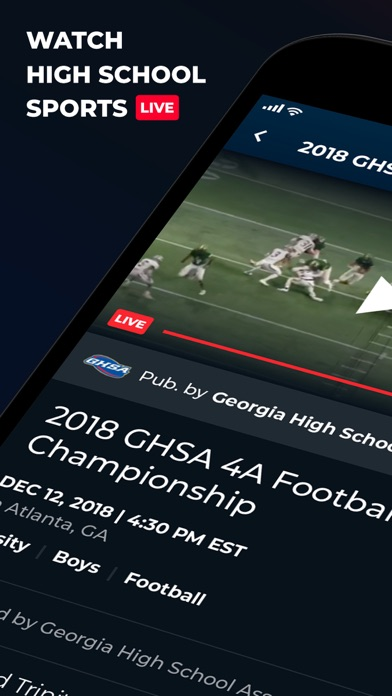 NFHS Network Screenshot
