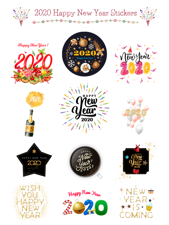 Happy New Year - 2020 Stickers screenshot 6