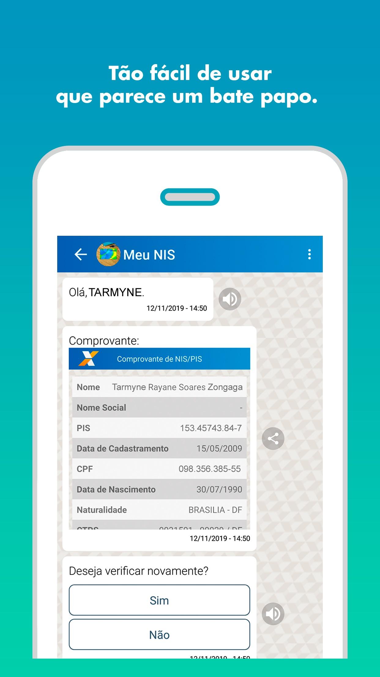 Screenshot do app Caixa Tem