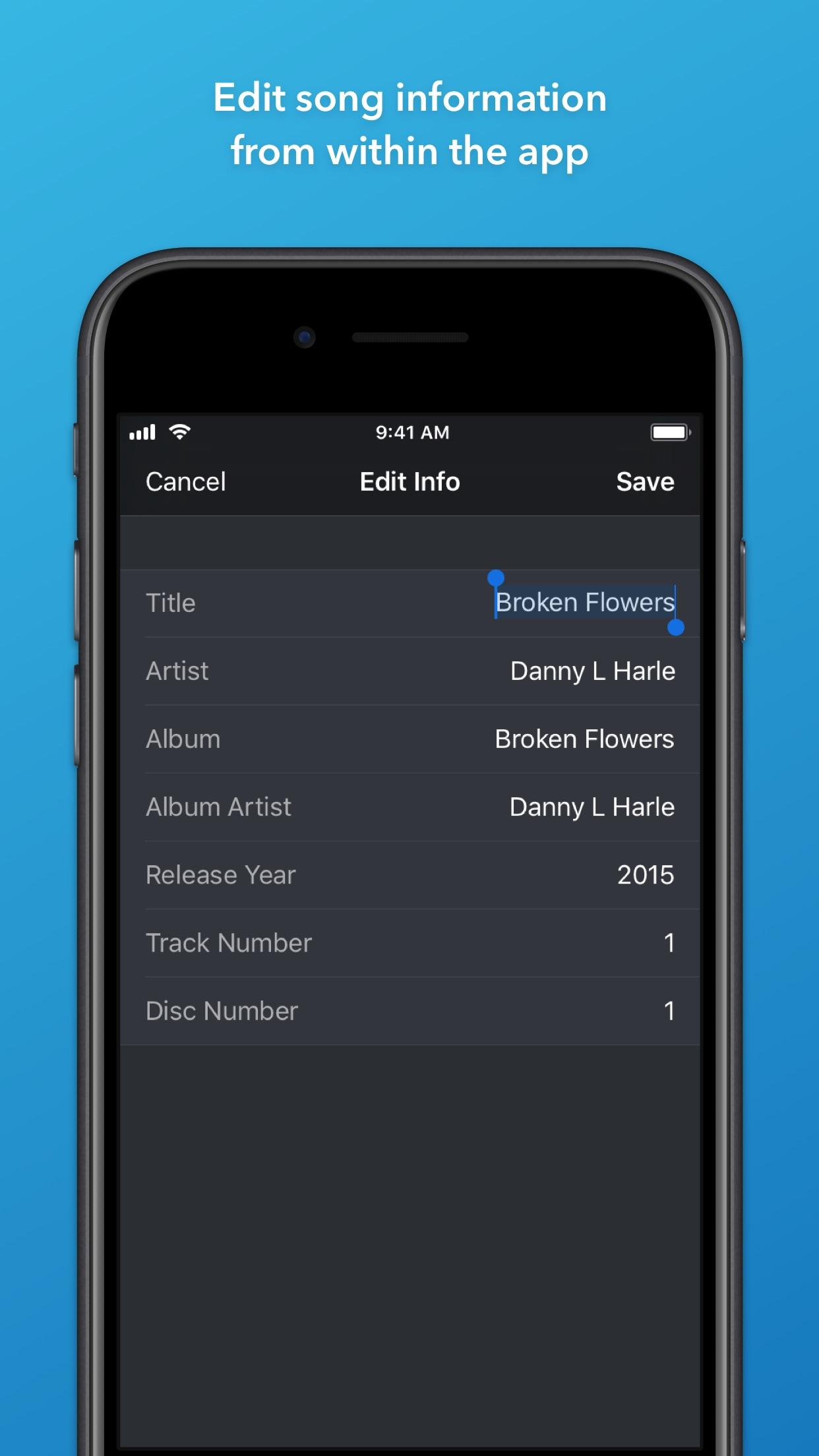 Screenshot do app Doppler 1 — Music Player