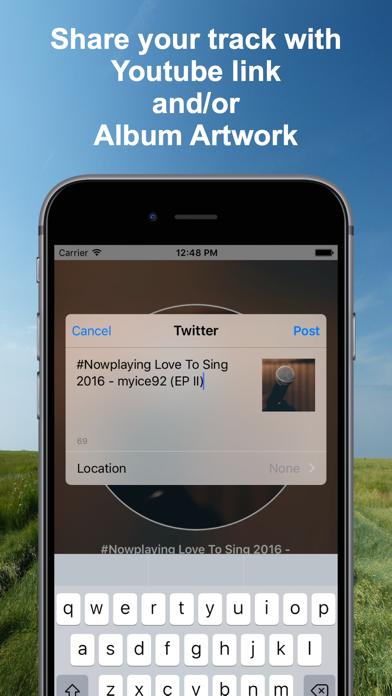 Screenshot #2 pour #Nowplaying - Tweet Your Music
