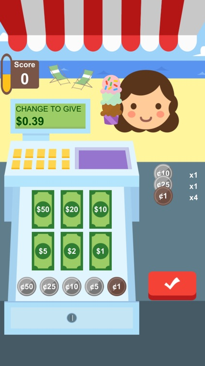 Crazy Cashier: Learn Money!