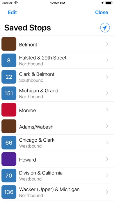 Screenshot for Transit Stop: CTA Tracker. in United States App Store