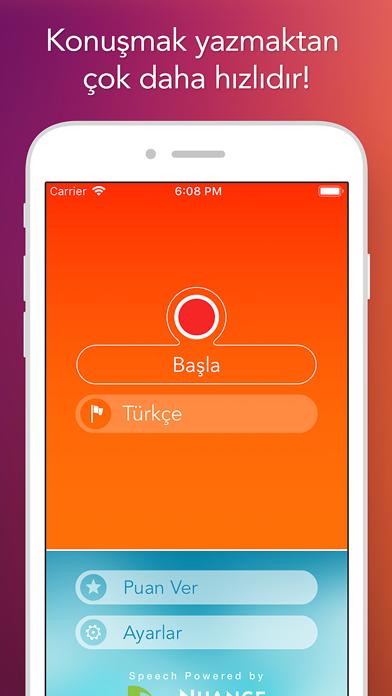Konuşma Tanımlayıcı iphone ekran görüntüleri