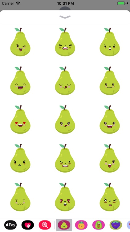 pear face funny stickers