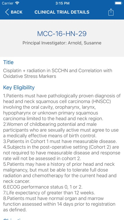 Markey Cancer Clinical Trials screenshot-3