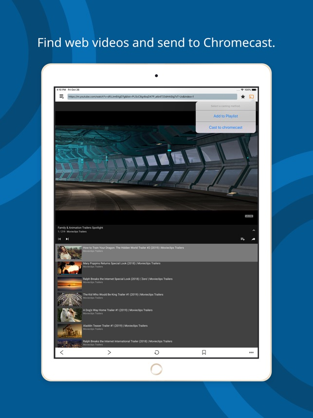 Web Cast for Chromecast on the App Store