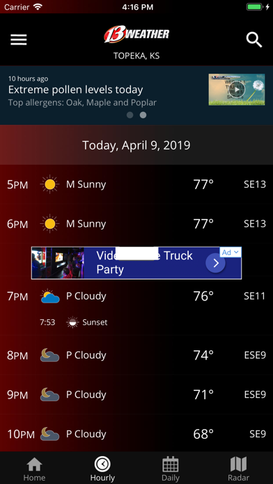 WIBW 13 Weather app | From Gray Television Group, Inc