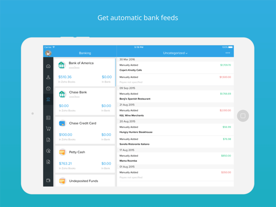 Accounting app - Zoho Books screenshot