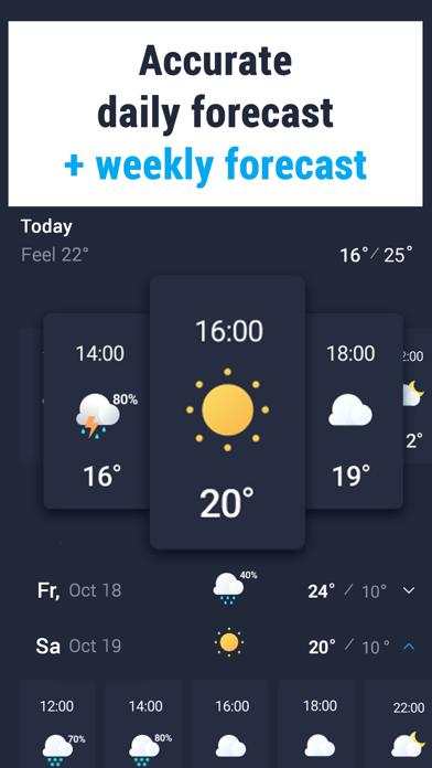 Weather 24: Weather Forecast Screenshot