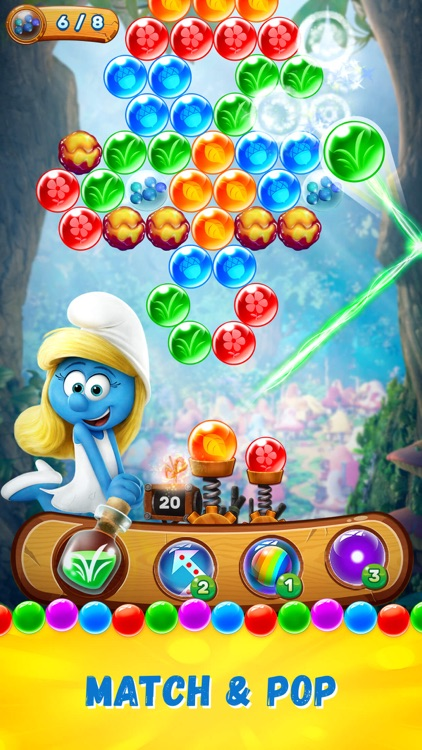 Smurfs Bubble Shooter Story screenshot-0