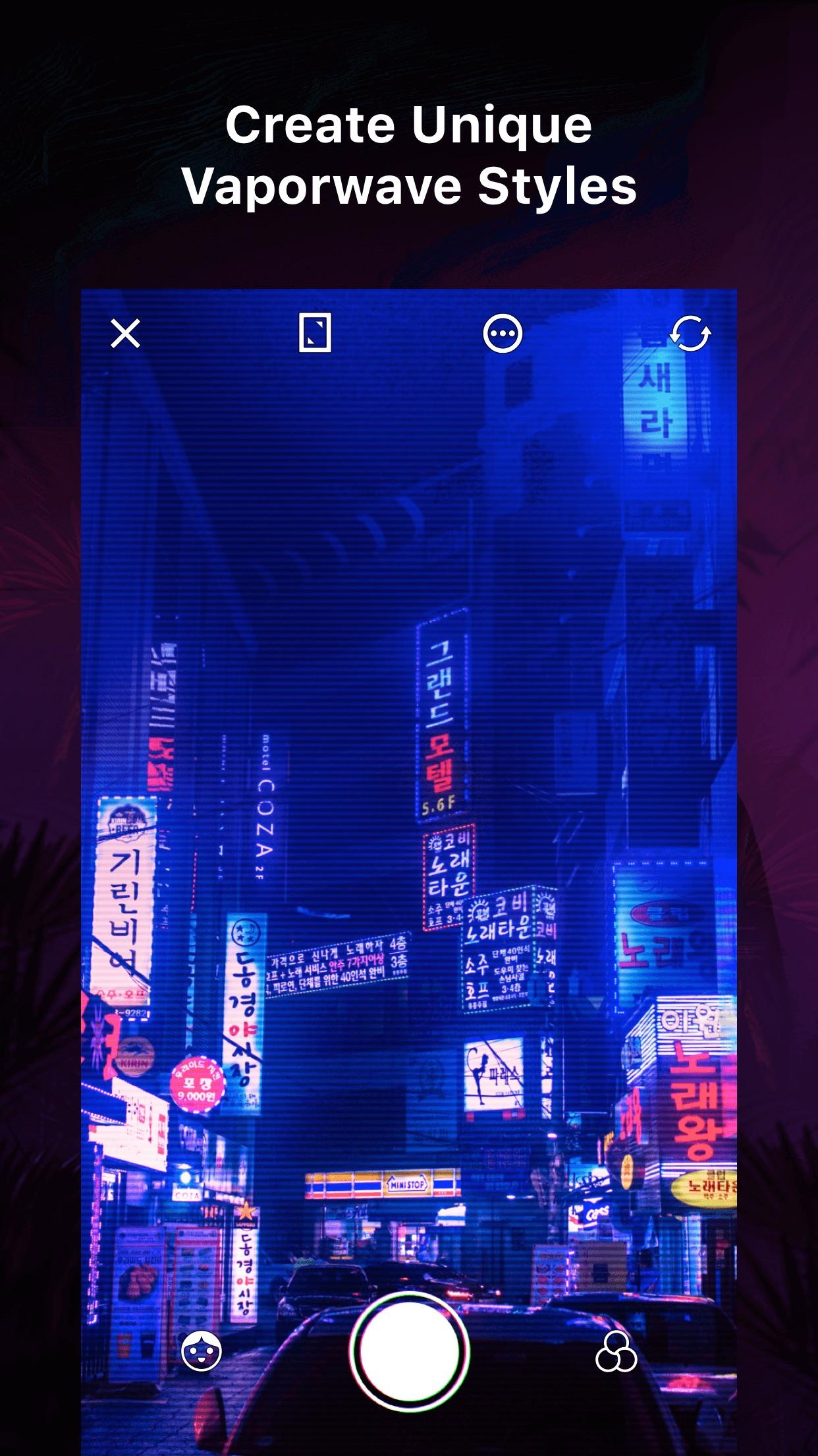 VaporCam-Retro Filter Camera Screenshot