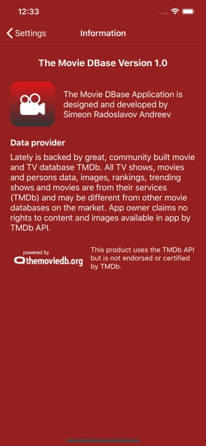 The Movie DBase on the App Store