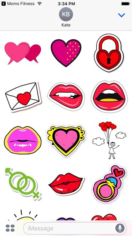 Cute Valentine's Day Stickers! screenshot-3
