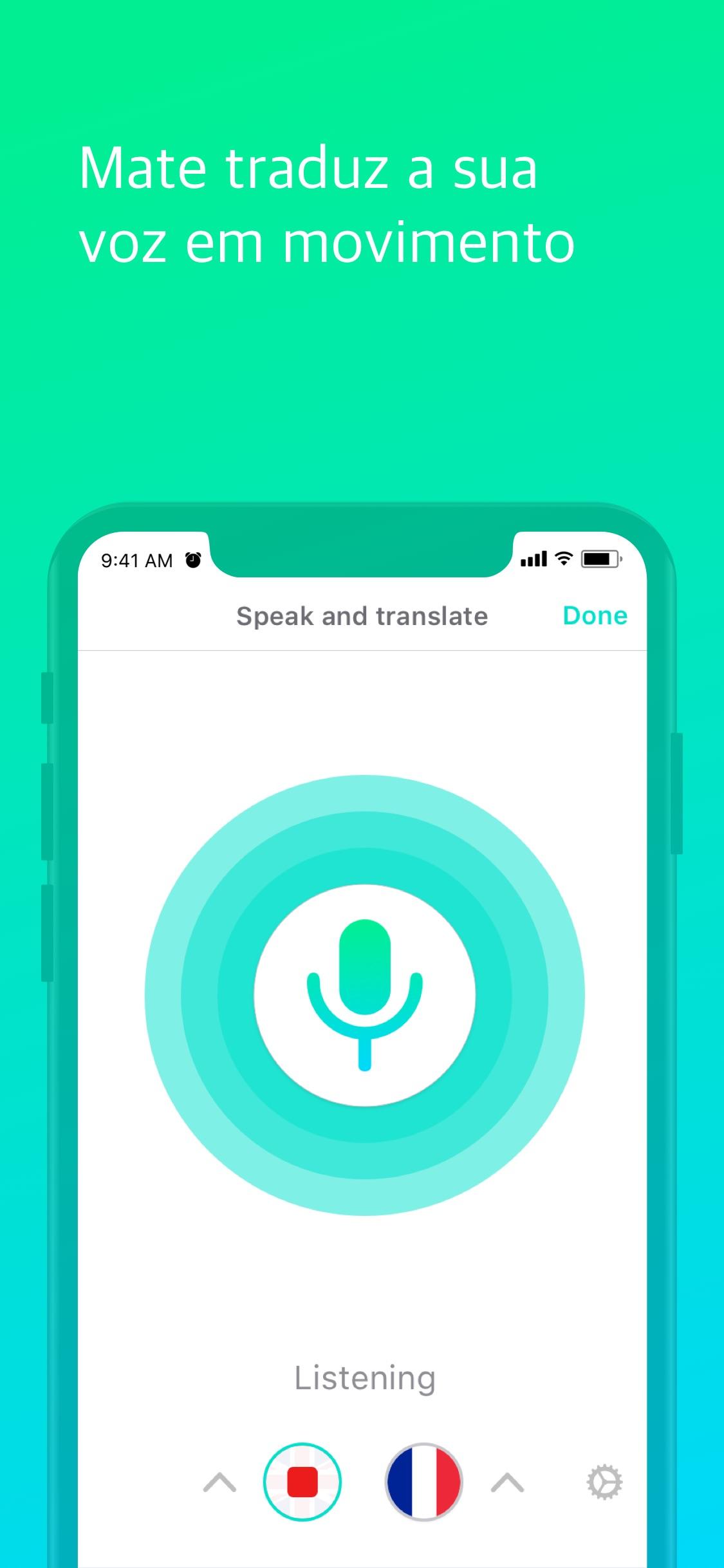 Screenshot do app Tradutor Profissional – Mate