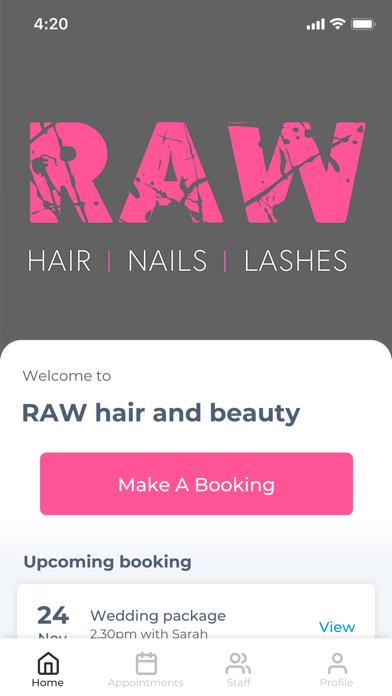 RAW hair and beauty screenshot one