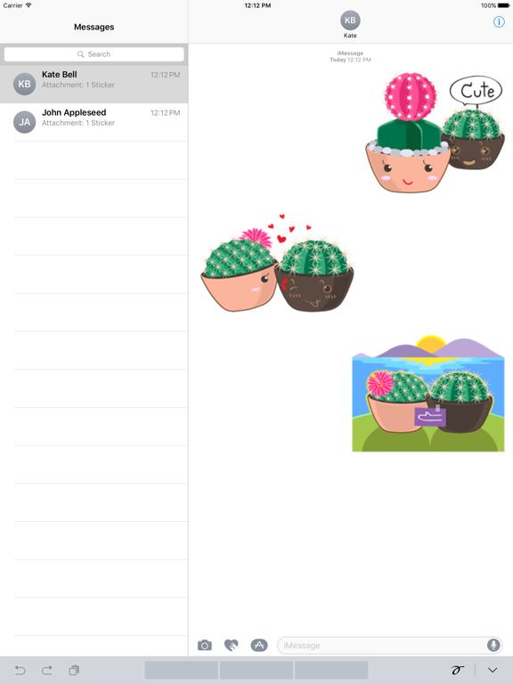 Cute Cactus Couple Emoji screenshot 5