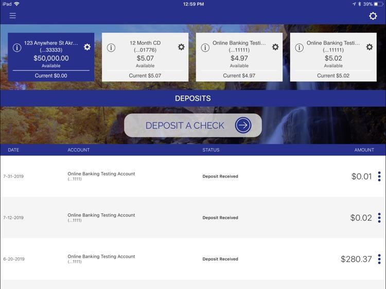 Bank of Akron Personal foriPad screenshot-3