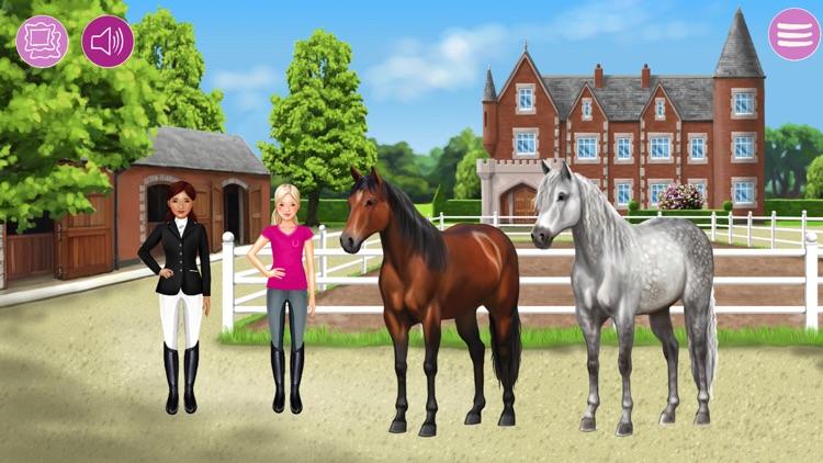 Pferde und Reiter Anziehspass screenshot-0