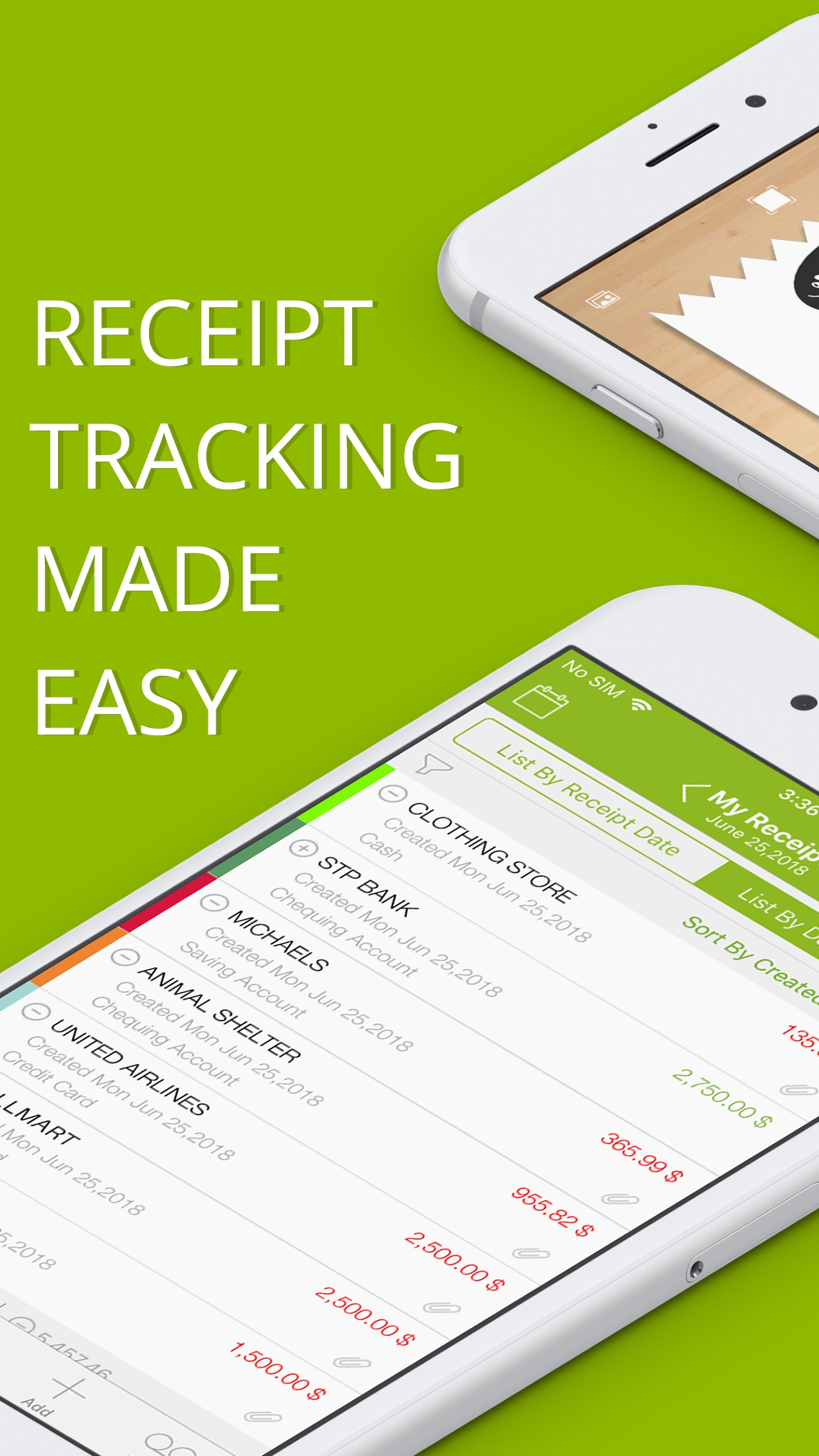 Foreceipt Receipt Tracker App Screenshot
