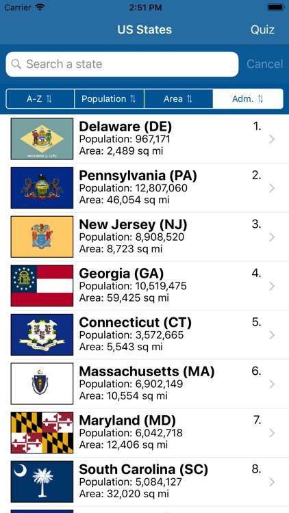 US States Flags Seals Quiz screenshot-9