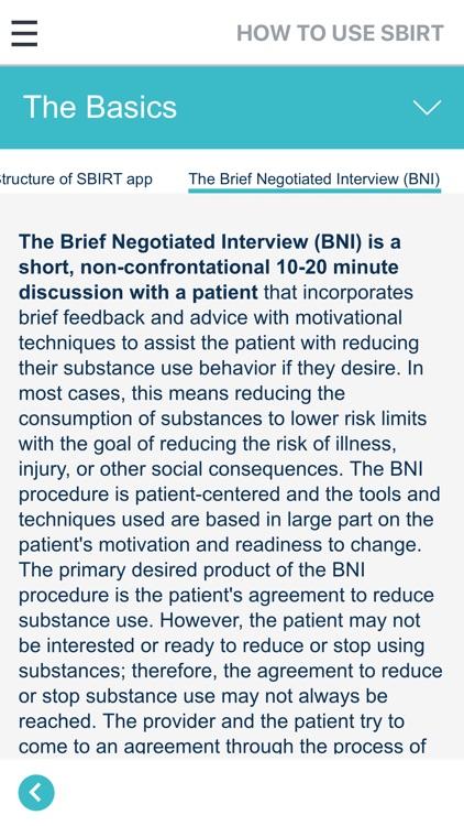 SBIRT for Health Professionals screenshot-4