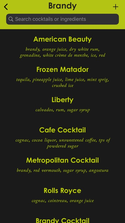 Cocktail Manual