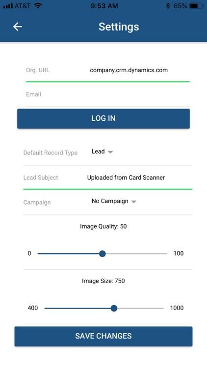 Card Scanner For Dynamics 365