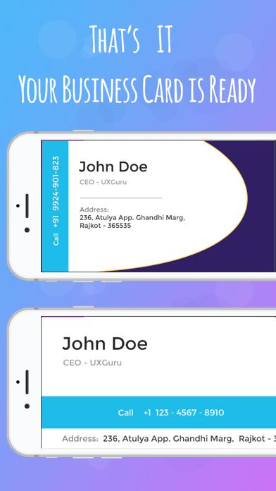 Screenshot of iBusiness Card Maker5