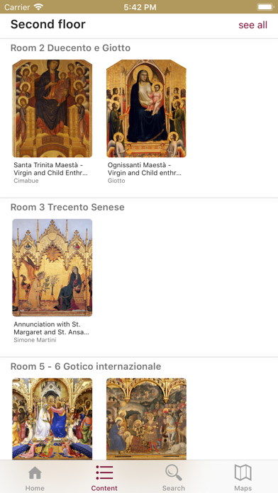 Screenshot of Uffizi Gallery3