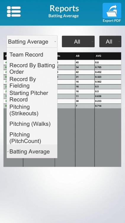 Fieldtrack Baseball Stats screenshot-4