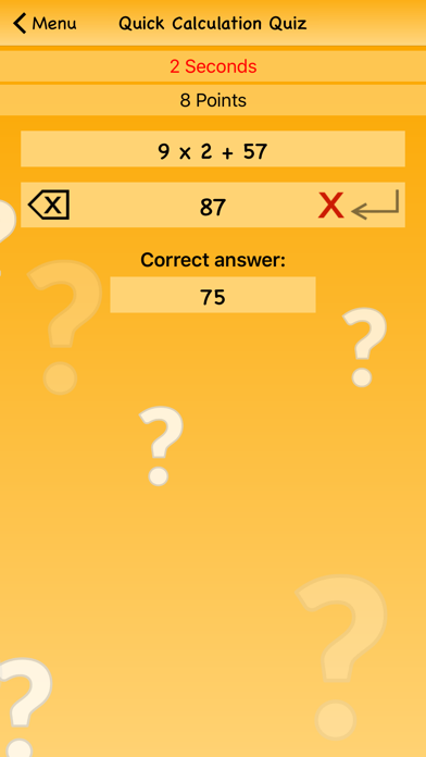 Quick Calculation Quiz screenshot four