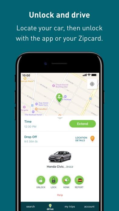 Zipcar review screenshots