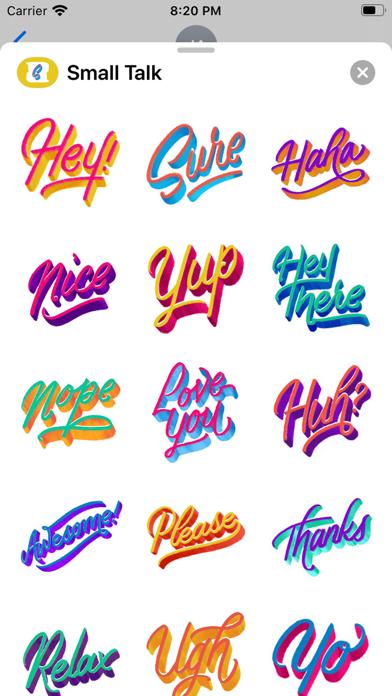 Small Talk StickersScreenshot of 2