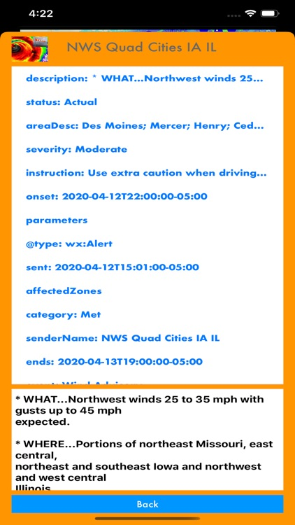 Instant NOAA Alerts 3D Lite screenshot-9
