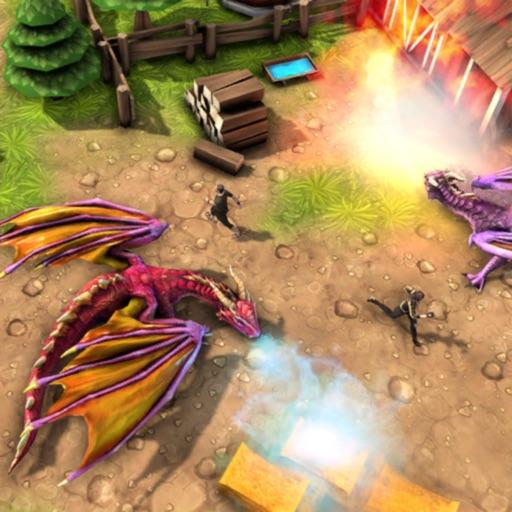 Village Dragon Combat