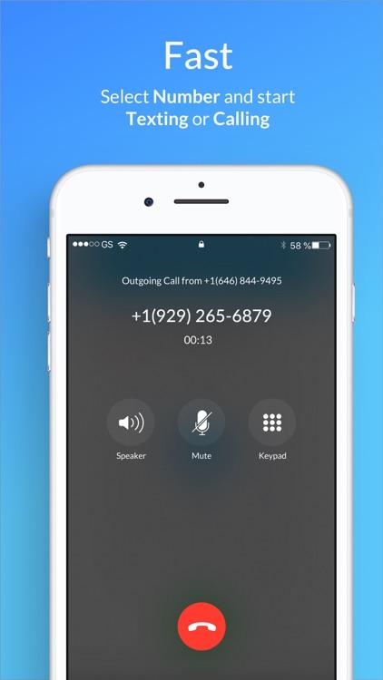 Second Phone Number - SIMless screenshot-5