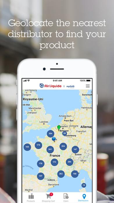 Screenshot of myGAS mobile4