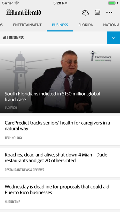 Miami Herald News Screenshot