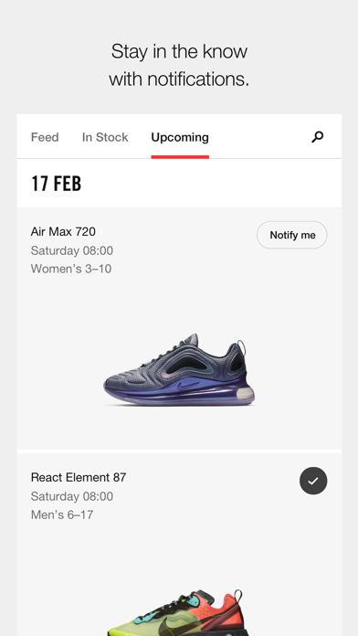 Nike SNEAKRS screenshot three