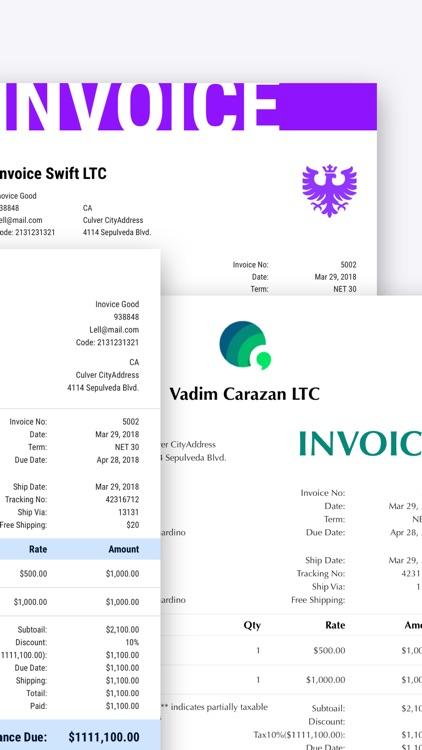 Swift Invoice - Invoice Maker screenshot-5