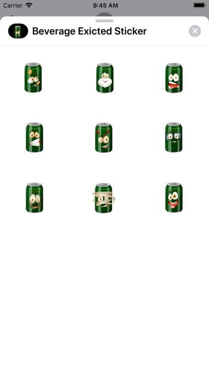 Beverage Exicted Sticker