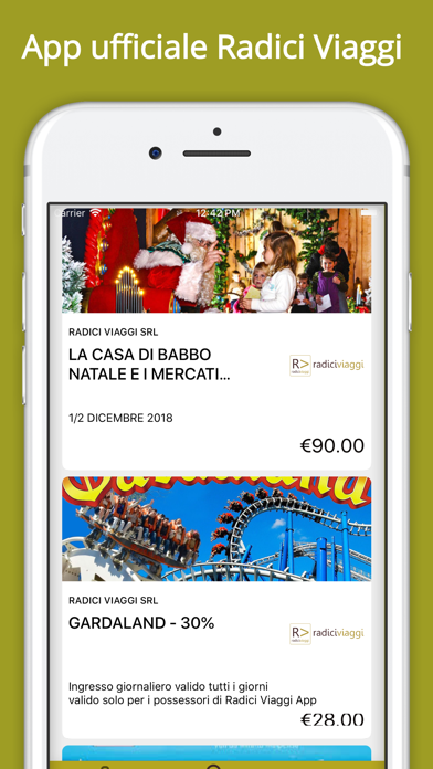 Screenshot of Radici Viaggi1