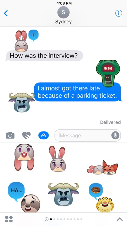 Disney Stickers: Zootopia screenshot-0