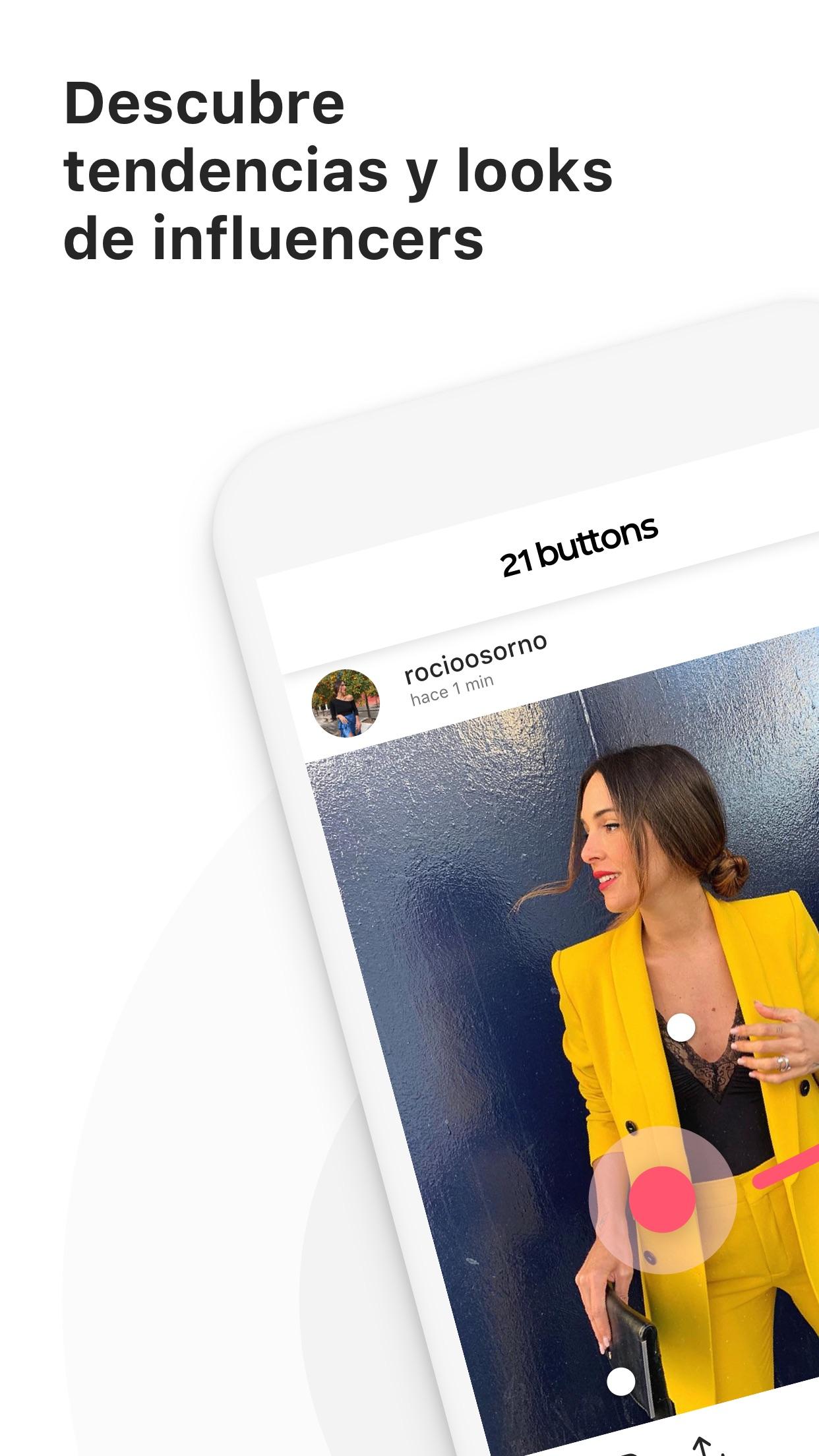 21 Buttons: Red Social de Moda Screenshot