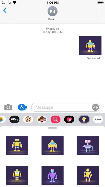 The robot Polly Sticker screenshot-3