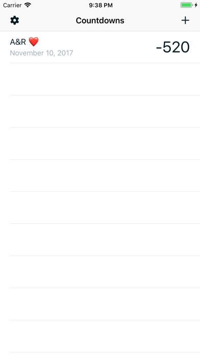 Countdowns screenshot one